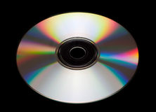 CD DVD isolated on black Stock Image