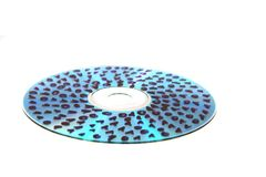 CD or DVD with 0 and 1. Isolated on the white background Stock Images