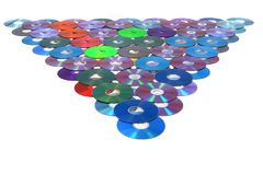 CD and DVD isolated on the white Royalty Free Stock Images