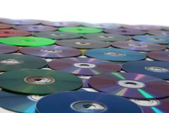 CD and DVD isolated on the white Royalty Free Stock Image