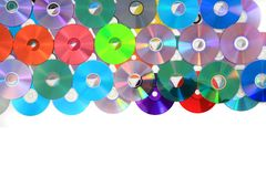 CD and DVD isolated on the white Stock Images