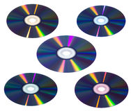 CD/DVD isolated Royalty Free Stock Photos