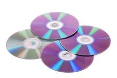 CD/DVD isolato su bianco Fotografia Stock Libera da Diritti