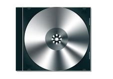 CD / DVD jewel case with cd di. Cd case with blank cd inside.perfect for inserting your own graphics Stock Image