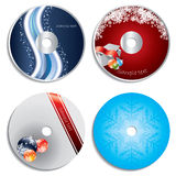 CD & DVD label christmas designs Royalty Free Stock Photo