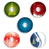 CD & DVD label christmas designs 2 Royalty Free Stock Image