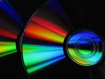 Cd, dvd, laser disk. DVD Laser disk, colors of raibow Stock Photography