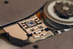 CD and DVD Laser drive. Photo Close-up of and with Shallow Depth of Field Stock Images