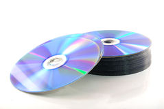 Cd-dvd maträtt. Arkivbilder