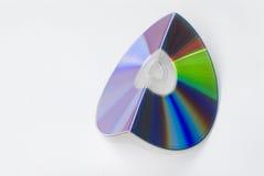 Cd, dvd ou bleu-rayon déplié Images libres de droits