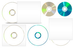 CD - DVD paper set Stock Photography