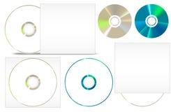 CD - DVD-pappersuppsättning Arkivbild