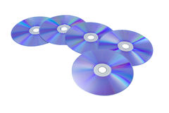 CD/DVD pattern on isolated white background Royalty Free Stock Image