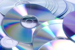 CD DVD pile Stock Photo