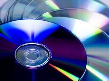 Cd and dvd pile. Virgin disk ready to be written Royalty Free Stock Photography
