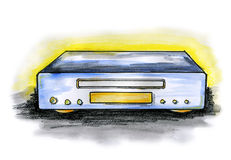CD / DVD player Royalty Free Stock Photos