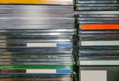 CD, DVD rękawy i pudełka i zdjęcie royalty free