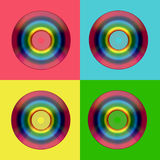 CD DVD rainbow Royalty Free Stock Images