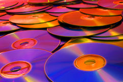 CD/DVD schijven Royalty-vrije Stock Afbeeldingen