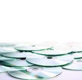 CD (DVD) schijven Stock Afbeeldingen