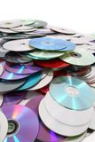 CD and DVD  technology background Stock Photo