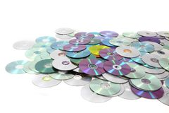CD and DVD  technology background Stock Photography