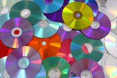 CD and DVD  technology background Stock Image
