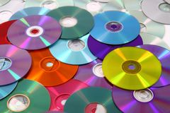 CD and DVD  technology background Stock Photos