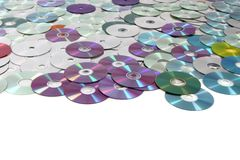 CD and DVD  technology background Royalty Free Stock Image