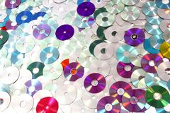 CD and DVD  technology background Royalty Free Stock Photo