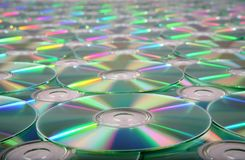 CD - DVD Texture Stock Photos