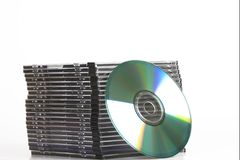 Cd dvd tower Royalty Free Stock Photography