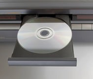 Cd dvd in tray Royalty Free Stock Image