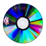 CD or DVD on white background Stock Photo