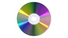 CD or DVD on white background stock video