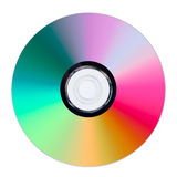CD or DVD on white background Stock Photography