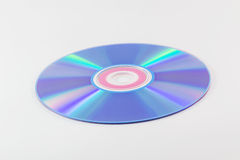 CD or DVD on white background Stock Photos
