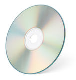 CD or DVD on white with clipping path. CD or DVD isolated on white background with clipping path Royalty Free Stock Photography