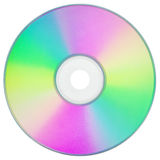 CD or DVD on white with clipping path Royalty Free Stock Images