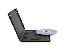 CD / DVD and Wide Angled Black Plastic Cover Royalty Free Stock Image