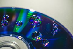 CD DVD Z WODNYMI kroplami Zdjęcia Stock