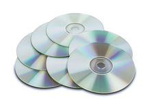 Cd DVDs mit Pfad Stockfoto