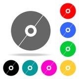 Cd dyska ikony Elementy ludzkiej sieci barwione ikony Premii ilości graficznego projekta ikona Prosta ikona dla stron internetowy royalty ilustracja