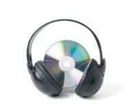 CD e auscultadores da música Imagem de Stock Royalty Free