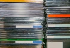 CD e caixas e luvas de DVD foto de stock royalty free