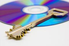 CD e chave Imagens de Stock