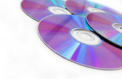 Cd e dvd Fotografia de Stock Royalty Free
