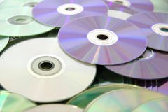 CD e DVD Fotografie Stock Libere da Diritti