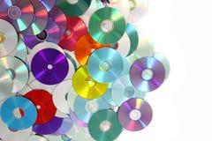 Fondo di DVD e del CD Fotografia Stock