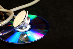 CD e stetoscopio del disco Fotografia Stock
